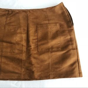 Old Navy Brown Faux Suede Skirt